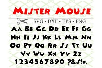 MISTER MOUSE SVG FONT