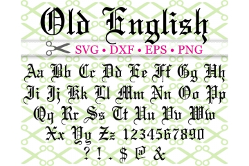 OLD ENGLISH SCRIPT SVG FONT