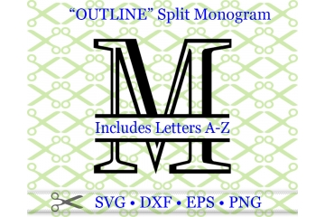 OUTLINE ROMAN SPLIT LETTER MONOGRAM