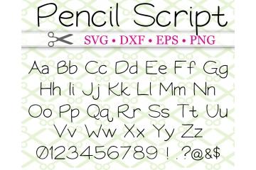 PENCIL SCRIPT SVG FONT