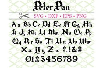 PETER PAN FONT SVG FILES