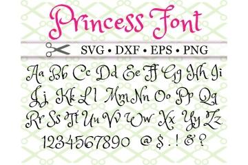 PRINCESS FONT SVG