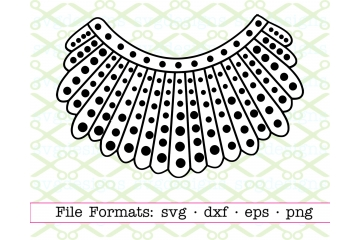 RBG Collar, Lace Collar SVG FILE, Ruth Bader Ginsburg SVG