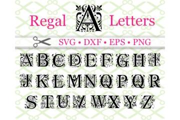 REGAL MONOGRAM SVG FONT