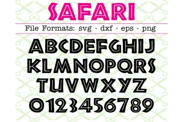 SAFARI LETTERS SVG FONT