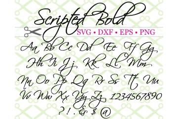 SCRIPTED BOLD SVG FONT