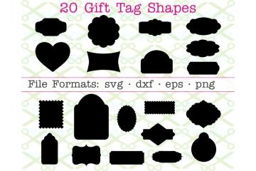 20 GIFT TAG SVG SHAPES