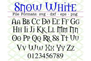 SNOW WHITE FONT SVG FILES