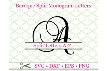 BAROQUE SPLIT LETTER MONOGRAM