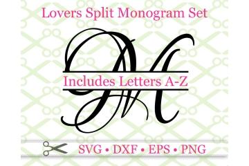 LOVERS SPLIT LETTER MONOGRAM SET
