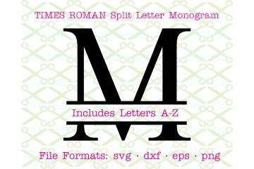 TIMES NEW ROMAN SPLIT LETTER MONOGRAM