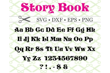 STORYBOOK FONT SVG