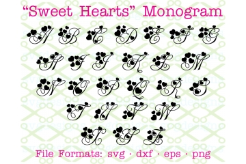 SWEET HEARTS VALENTINE MONOGRAM SVG FONT