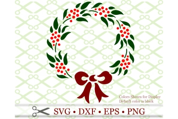 CHRISTMAS WREATH STENCIL SVG FILE FILE