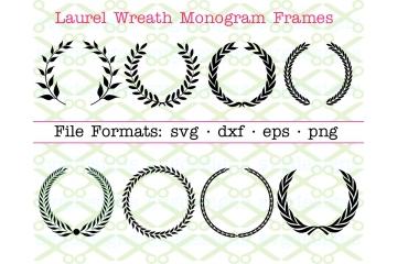 LAUREL WREATH MONOGRAM FRAMES