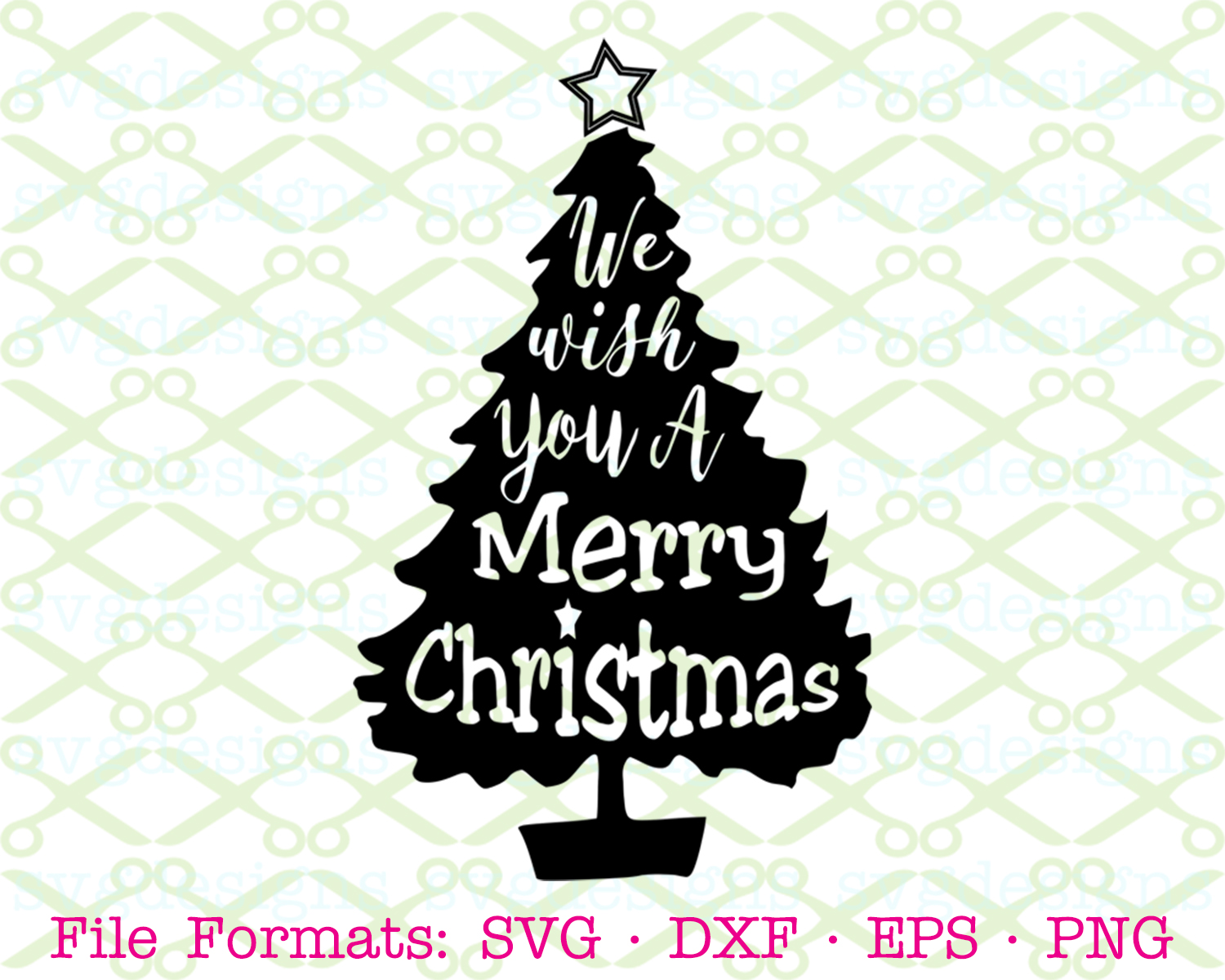 Christmas Tree Svg File Cricut Silhouette Files Svg Dxf Eps Png Monogramsvg Com By Svg Designs