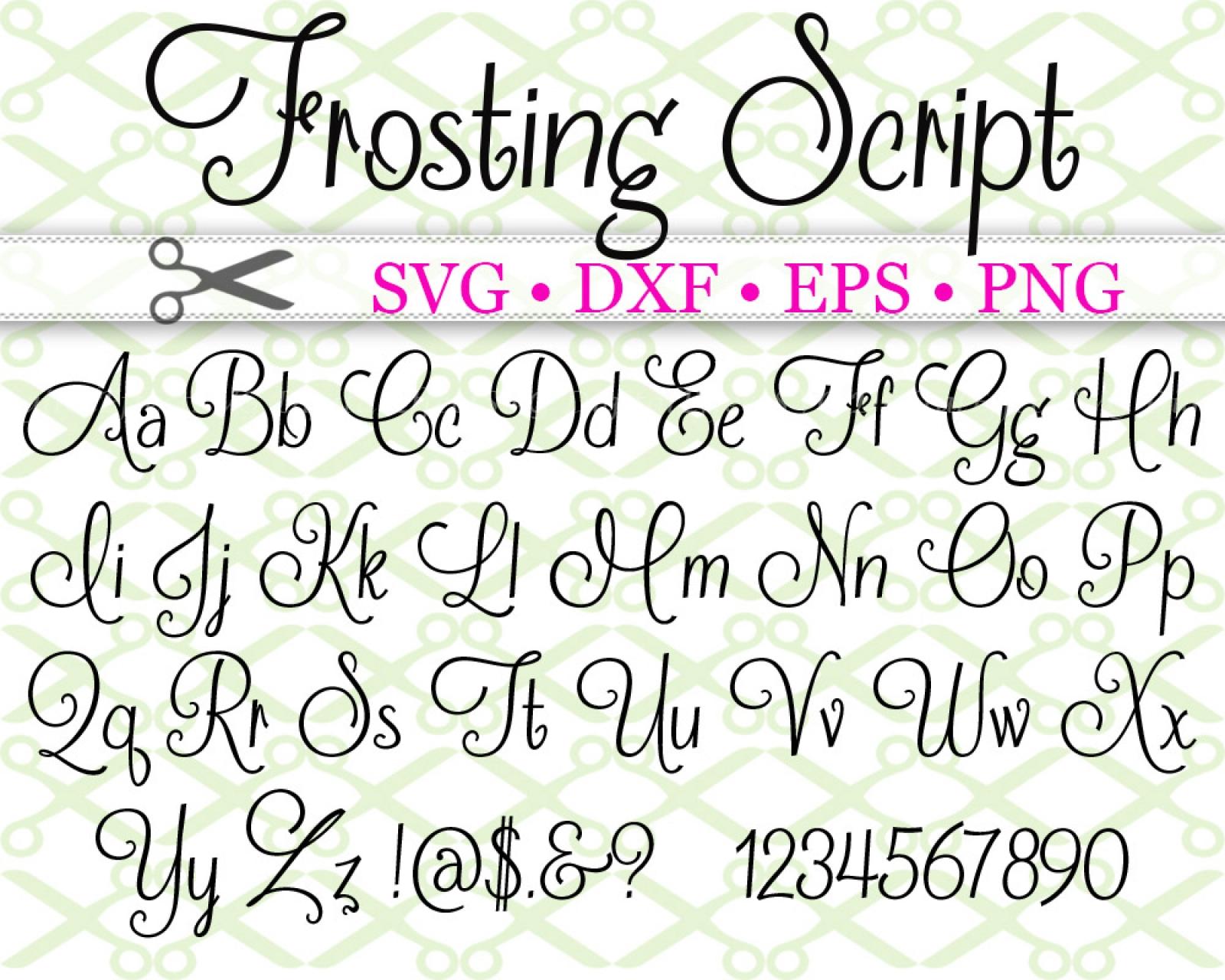 Download FROSTING SCRIPT FONT SVG FIL-Cricut & Silhouette Files SVG ...