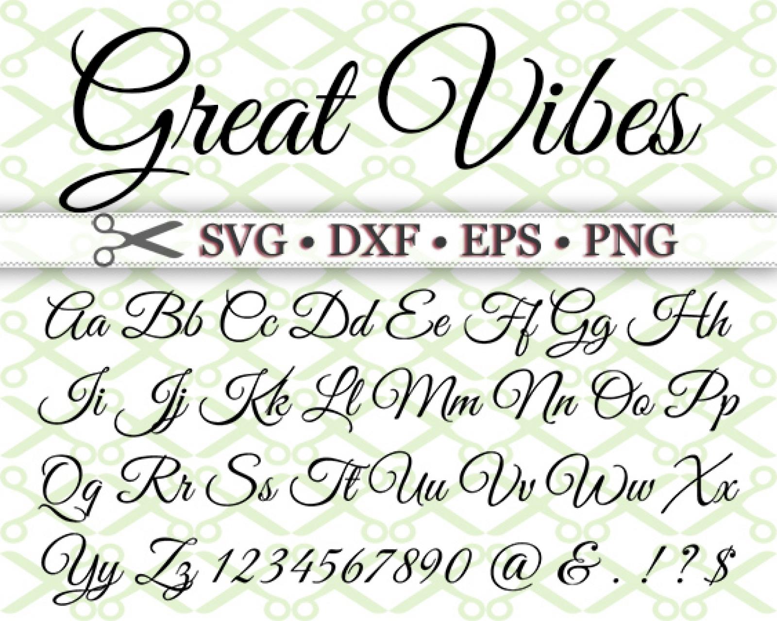 Download ELEGANT SCRIPT SVG FONT-Cricut & Silhouette Files SVG DXF ...
